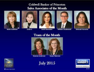 July 2015 Agents of the Month Coldwell Banker Princeton