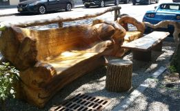 log benches tesla