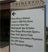 princeton shopping center sign