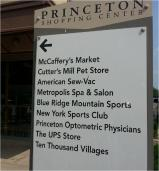princeton shopping center sign